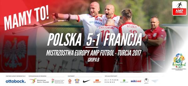 Polska Francja 5-1 Mistrzostwa Europy Amp Futbol 2017