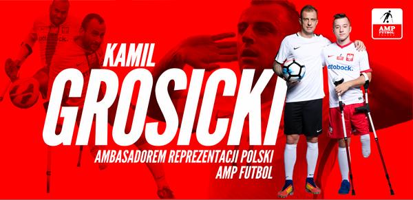 Kamil Grosicki - ambasador reprezentacji Polski Amp Futbol